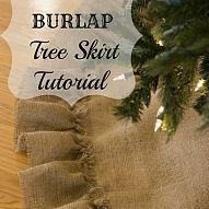 No sew burlap Christmas tree skirt tutorial