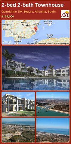2-bed 2-bath Townhouse in Guardamar Del Segura, Alicante, Spain ►€165,000 #PropertyForSaleInSpain