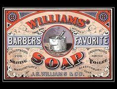 1800s Williams Barber's Favorite Soap trade card