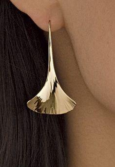 Ginkgo Drop Earrings: Stephen LeBlanc: Gold or Silver Earrings - Artful Home #fineearringsjewelry