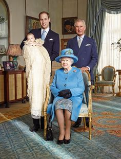 For the 1st time since 1894, English royalty in four generations (current + 3 heirs).  Kind of cute.  :)