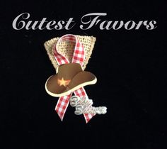 Western baby shower guest pins by CutestFavors on Etsy