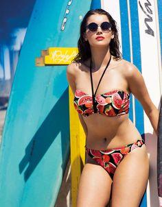 Freya Swim Watermelon Underwired Banded Halter Bikini Top (£38) and Matching Bottoms (£23)
