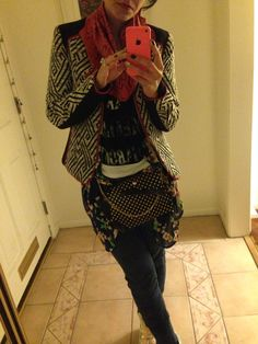 Home selfie. Pouch by Leather Couture by Jessica Galindo