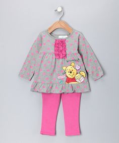 Take a look at this Heather Gray Pooh Tunic & Leggings - Infant by Winnie the Pooh on #zulily today!