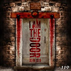 (October During the first Passover, Yahweh(YHWH) had the Israelites put the blood of the Passover Lamb above their doorposts, so that they would not be killed. It was YHWH Himself who pa… 119 Ministries, I Am The Door, Prophetic Art, Jesus Is Lord, Christian Art, Bible Scriptures, Word Of God, Holy Spirit, Journaling