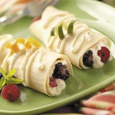 Breakfast Crepes with Berries Recipe - Healthy Recipes