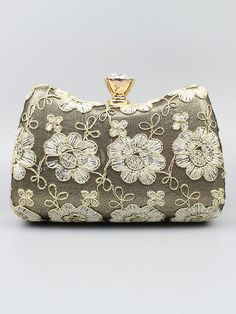 2ba79a6b88 Clutch Bag White Wedding Purse Flowers Embroidered Bridal Party Evening  Handbags