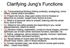 Clarifying Jung's function: