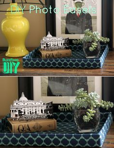 3. Photo Easels | 3 Cool New Ways To Display Your Vacation Photos by @allputtogether
