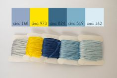 Sunshiny Day Palette - blues with a pop of yellow  www.lovelymesses.com