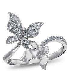 Sterling Silver, Diamond Fashion Ring, 1/5 ctw.