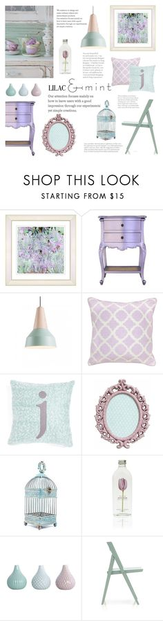"""""""Lilac & Mint"""" by junglover ❤ liked on Polyvore featuring interior, interiors, interior design, home, home decor, interior decorating, WALL, Villa Home Collection, Nordstrom and Crate and Barrel"""