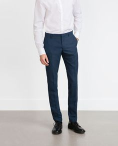 Image 2 of DYED BLUE TROUSERS from Zara