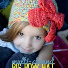 Multi-Strand Big Bow Hat: Crochet Pattern