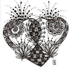 Doodle heart by Stephanie Bergeron