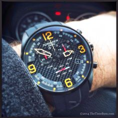 If you want a fun, sporty chronograph with a bold, racing style, you would do well to check out the Torgoen T18.