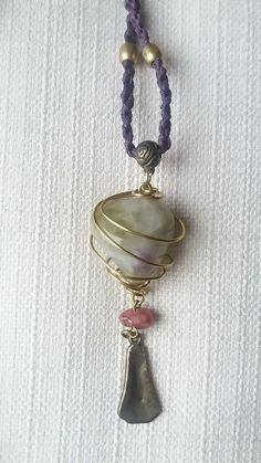 Ametrine pendant by Weavedmagic on Etsy