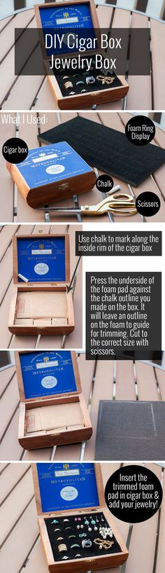 DIY Cigar Box Jewelry Box - Alterations Needed