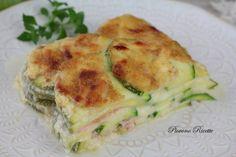 lasagne di zucchine Wheat Free Recipes, Great Recipes, Italian Recipes, Vegan Recipes, Zucchini Ravioli, Cannelloni, Crepes, Gnocchi, Brunch Recipes