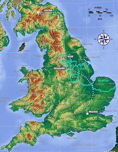 Map of england hills google search albion pinterest find this pin and more on harry potter ftw map showing mountainous areas of scotland gumiabroncs Images