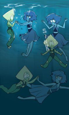 Steven universe,фэндомы,SU art,SU Персонажи,Lapis Lazuli,Peridot