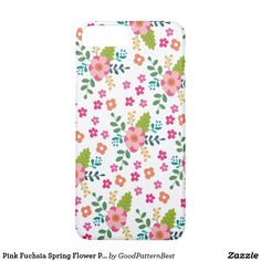 Pink Fuchsia Spring Flower Pattern, Girly Floral