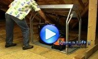 Attic lift solution that makes putting your stuff into the attic easier.