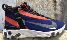 Take a First Look at the Nike React Runner Mid SP SOE: Building its React Element line. Nike Shoes, Shoes Sneakers, Shoes Heels, Jordans Sneakers, Hypebeast, Shoe Room, Exclusive Shoes, Nike Trainers, Types Of Shoes