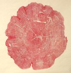 print made from tree stump