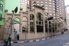 Facade of old power plant at Araujo Street, Sao Paulo - Brazil