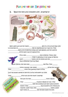 Lucy is going to Italy worksheet - Free ESL printable worksheets made by teachers