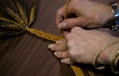 Wheat straw weaving