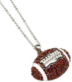 Football Mom Football Crystal Stones Necklace « Holiday Adds
