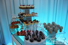 Quinceanera pastry table by Sweet Anush at Royal Palace Banquet Hall Glendale CA 818.502.3333