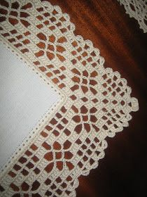 Hardanger crochet patchwork cover with delicate floral ornaments Crochet Boarders, Crochet Edging Patterns, Crochet Lace Edging, Crochet Motifs, Crochet Doilies, Crochet Stitches, Filet Crochet, Col Crochet, Crochet Baby
