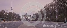 Brandeburg gate at dawn from Tiergarten, Berlin, Germany
