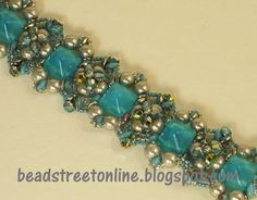 Bead Street Online: Two Hole Pyramid Bead Bracelets