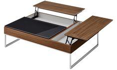 Tables basses - table basse multifonction Chiva avec espace de rangement - carré - Marron - Noyer