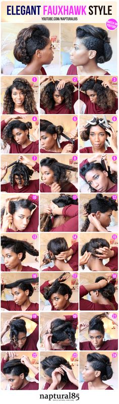 Naptural85 - Natural Hair - Elegant Faux Hawk Updo - Formal Natural Hairstyles - Wedding Natural Hairstyles - Natural Hairstyles
