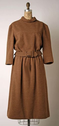 Dress by Marc Bohan for House of Dior: French, wool, fall/winter 1964–65