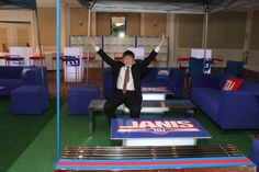 Football Tailgate Theme Bar Mitzvah Lounge by The Event of a Lifetime - mazelmoments.com