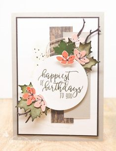 Stampin' Up! colorful seasons Stampin' Up! Fall Cards, Christmas Cards, Fusion Card, Rustic Flowers, Beautiful Handmade Cards, Stamping Up Cards, Marianne Design, Thanksgiving Cards, Stampin Up