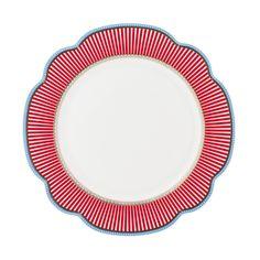 """Plate, """"Happy"""". Porcelain by Lisbeth Dahl Copenhagen. Spring/summer 2014. #LisbethDahlCph #porcelain #dinner #plate #red"""