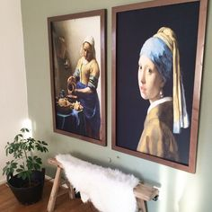 Vermeer art work in XL size Interior Styling, Interior Decorating, Interior Design, Living Room Designs, Living Room Decor, Roomspiration, Gravure, Lovers Art, Home And Living