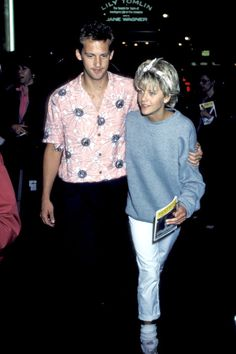 Anthony Edwards and Meg Ryan, 1986