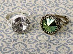 Learn to Make Easy Rivoli Crystal Rings