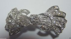 Antique Diamond Barrette Platinum  Art Deco Vintage Estate Filigree Fine Bridal