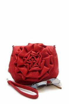 Zinnia Cross-Body Purse in Red on sale for $14.99 (orig. 29.99) at www.frock-stock.com (ONLY ONE LEFT!)