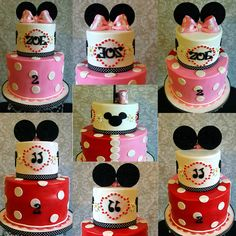 Minnie Mouse/ Mickey Mouse Cake Theme by Bake Dreams